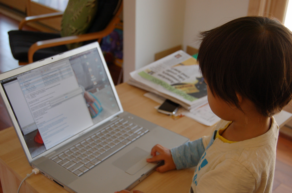 Child on laptop